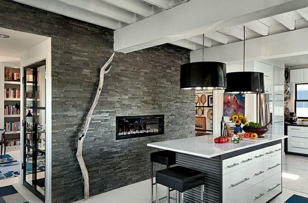 Große Pendelleuchten Im Esszimmer U2013 Moderne Hängelampen   Eingebaut  Feuerstelle Küche Wandgestaltung Hochglanz Hängelampen