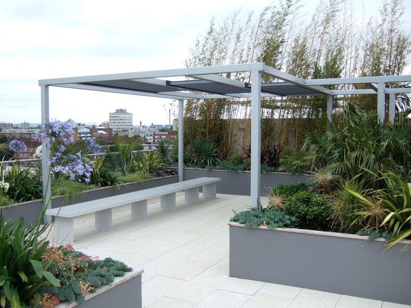 Pergola On Roof Garden. Pinned To Garden Design   Roof Gardens By Darin  Bradbury.