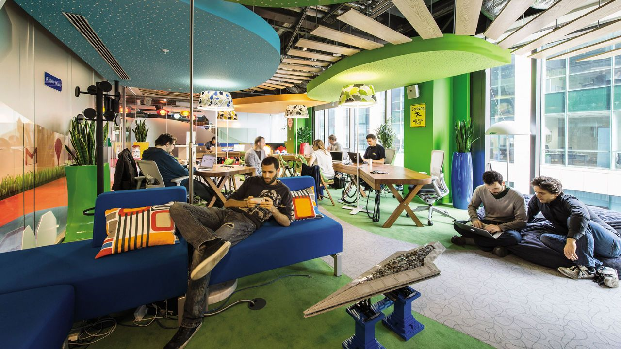 How To Fix Open Offices Google Office Office Interiors Open Office