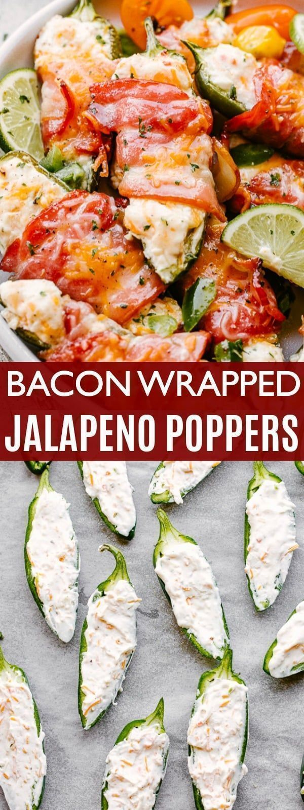 Bacon Wrapped Baked Jalapeño Poppers - Easy Super Bowl Food Idea!