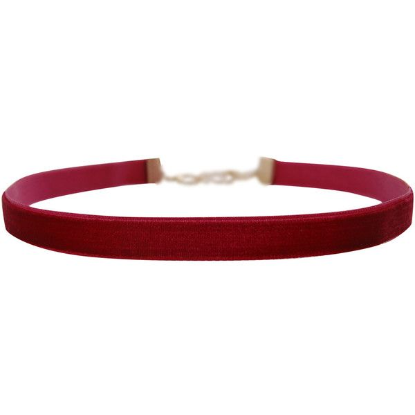 Humble Chic NY Skinny Ribbon Choker (£23) ❤ liked on Polyvore featuring jewelry, necklaces, burgundy velvet, ribbon choker necklace, velvet choker, thin necklace, adjustable necklace and burgundy necklace
