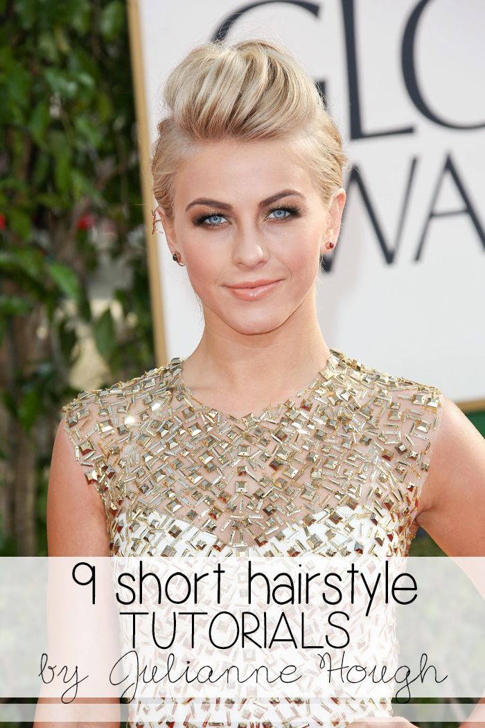 short hair style tutorial 9 hairstyle tutorials inspired by julianne hough 5872 | a09ae8c0fc846c33fc07adec6daeb6ea