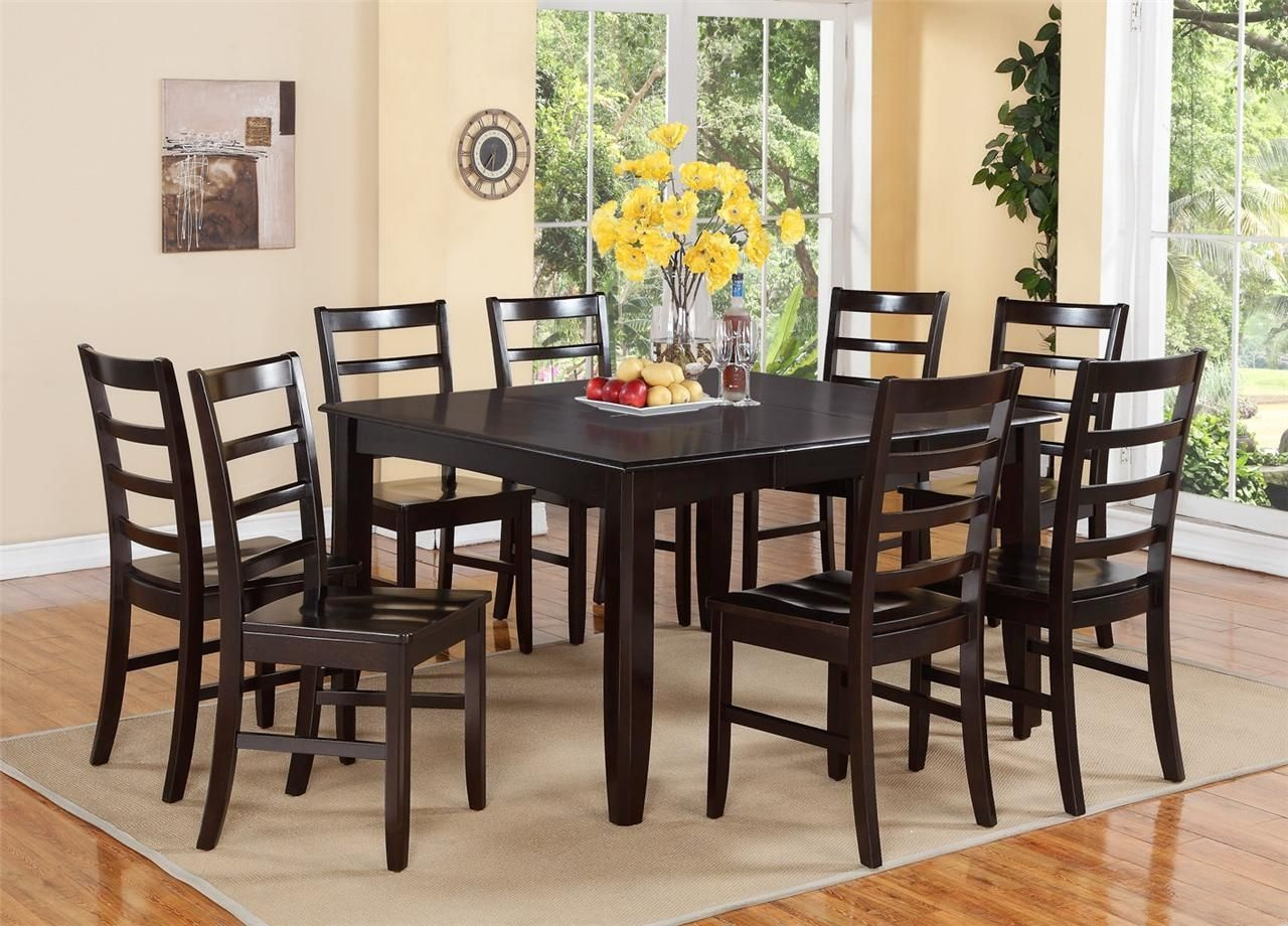 Beau 8 Person Kitchen Table And Chairs · Black Dining Room ...