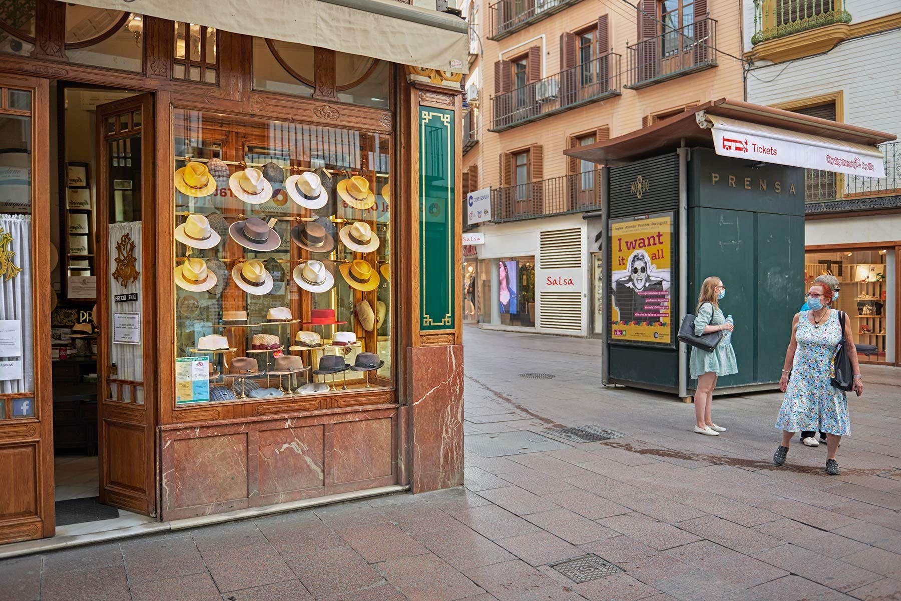 La tienda de sombreros de Sevilla