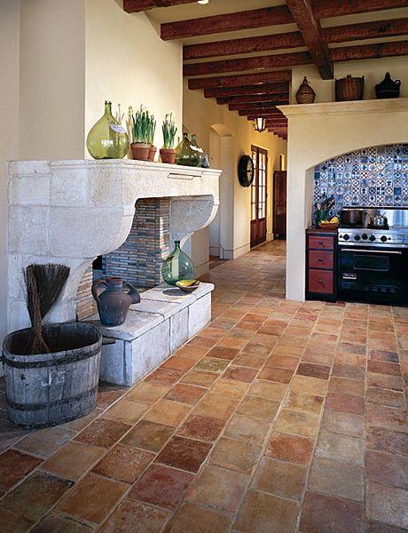 exquisite surfaces interior design decor kitchen flooring terracotta floor brick flooring on kitchen interior tiles id=50983