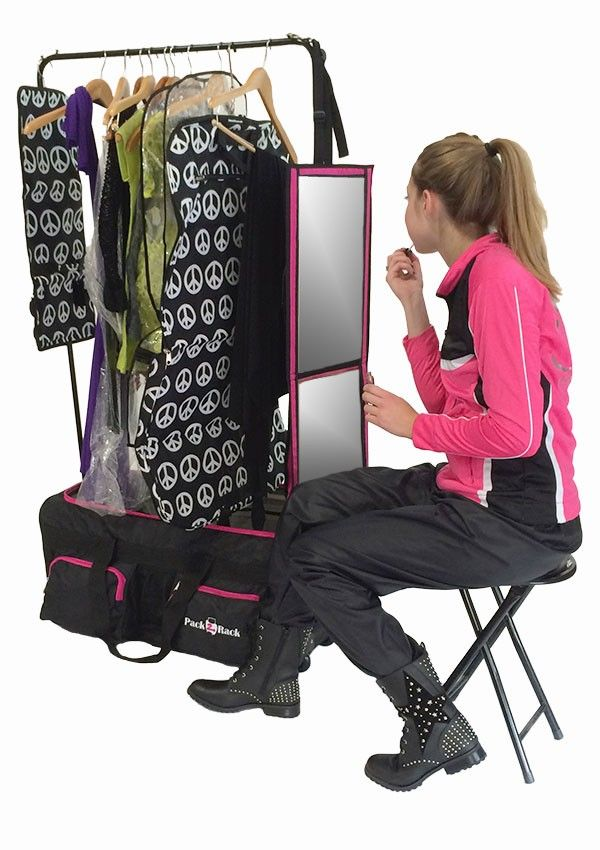 Pack 2 Rack Rolling Foldable Dance Bag Compeion Moms