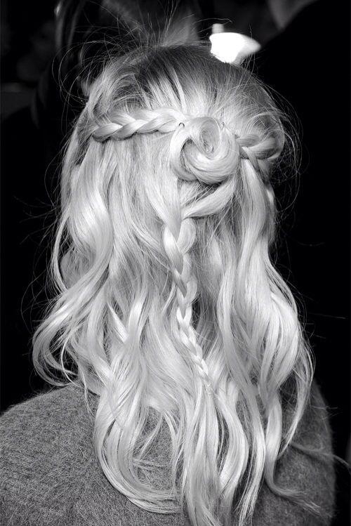 rose braid Cheveux tressés, Coiffure tresse et Cheveux