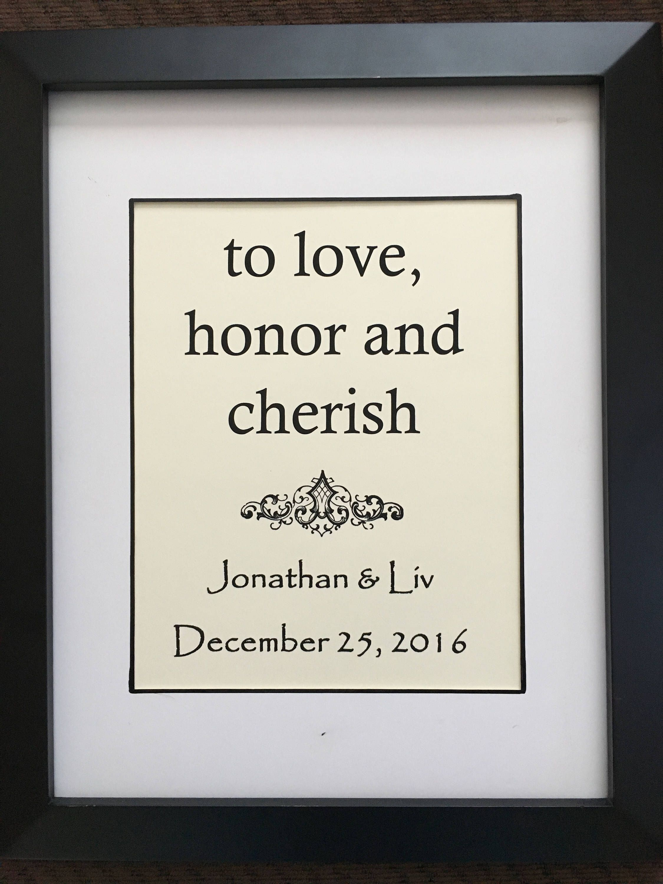 Custom Quote Prints Cotton Anniversary Gift  Personalized Wall Art  Custom Quote