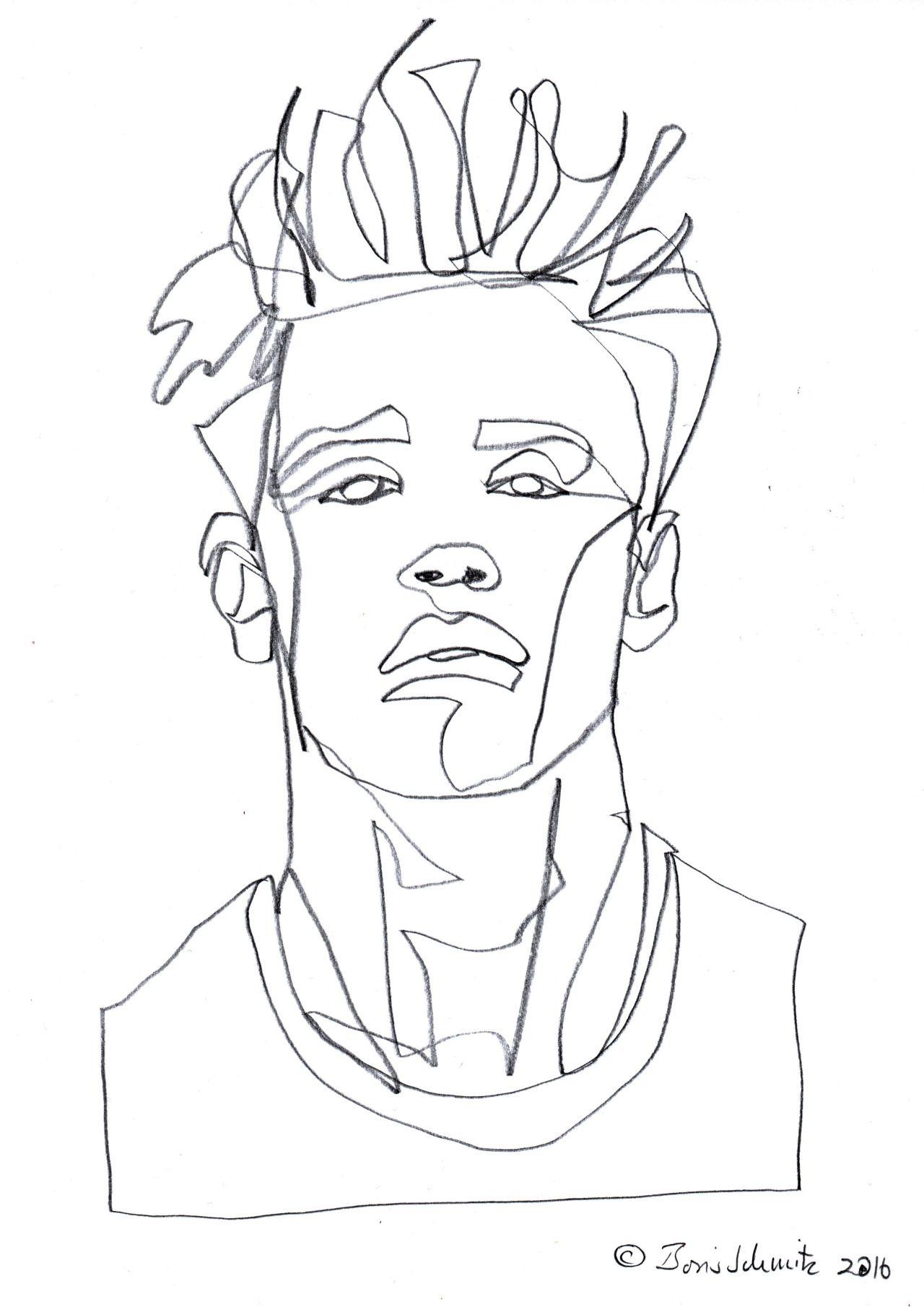 Gaze 496 continuous line drawing by boris schmitz for Art of minimal boris