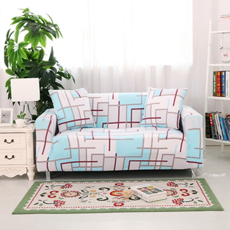 single couch chair cover ikea kid 3d effect geometric pattern striped sofa all inclusive double three four seater fabric designs protector