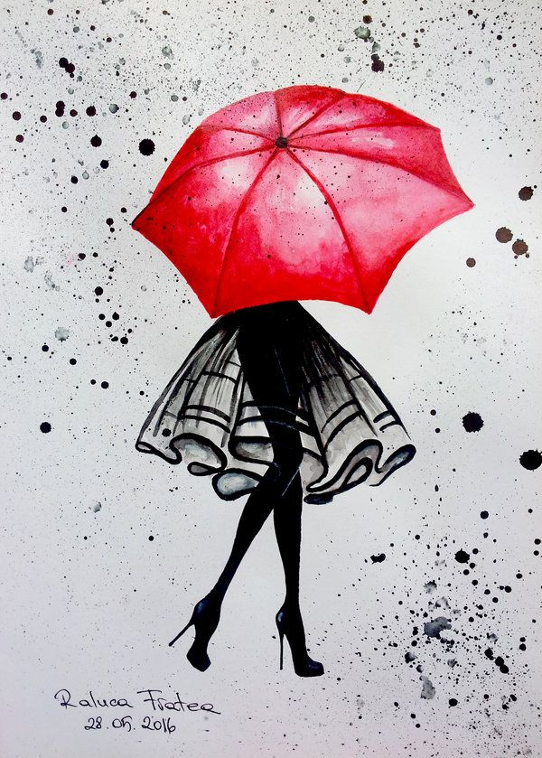 Red Umbrella by RalucaFratea on DeviantArt