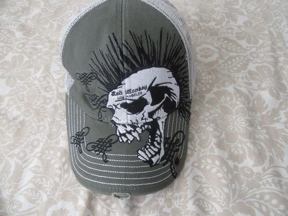 4580fdc47d77b mens red monkey skull snapback hat sz 58cm  redmonkey  BaseballCap