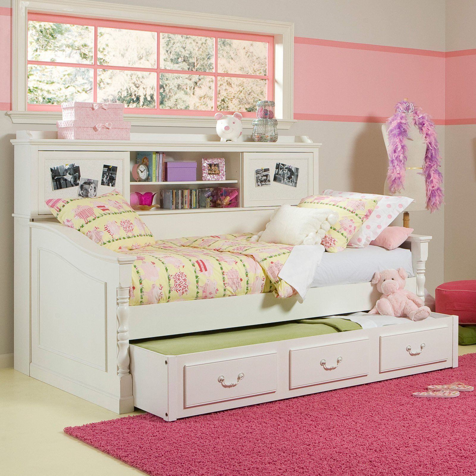 zoom beds over pc dark image oberon roll twin bookcase wood cherry br product to daybed bed