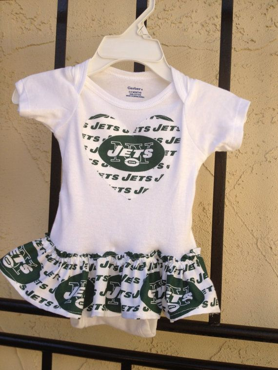 d25e5cb3d23 NY Jets Ruffle Onesie by BebeSucreOnline on Etsy