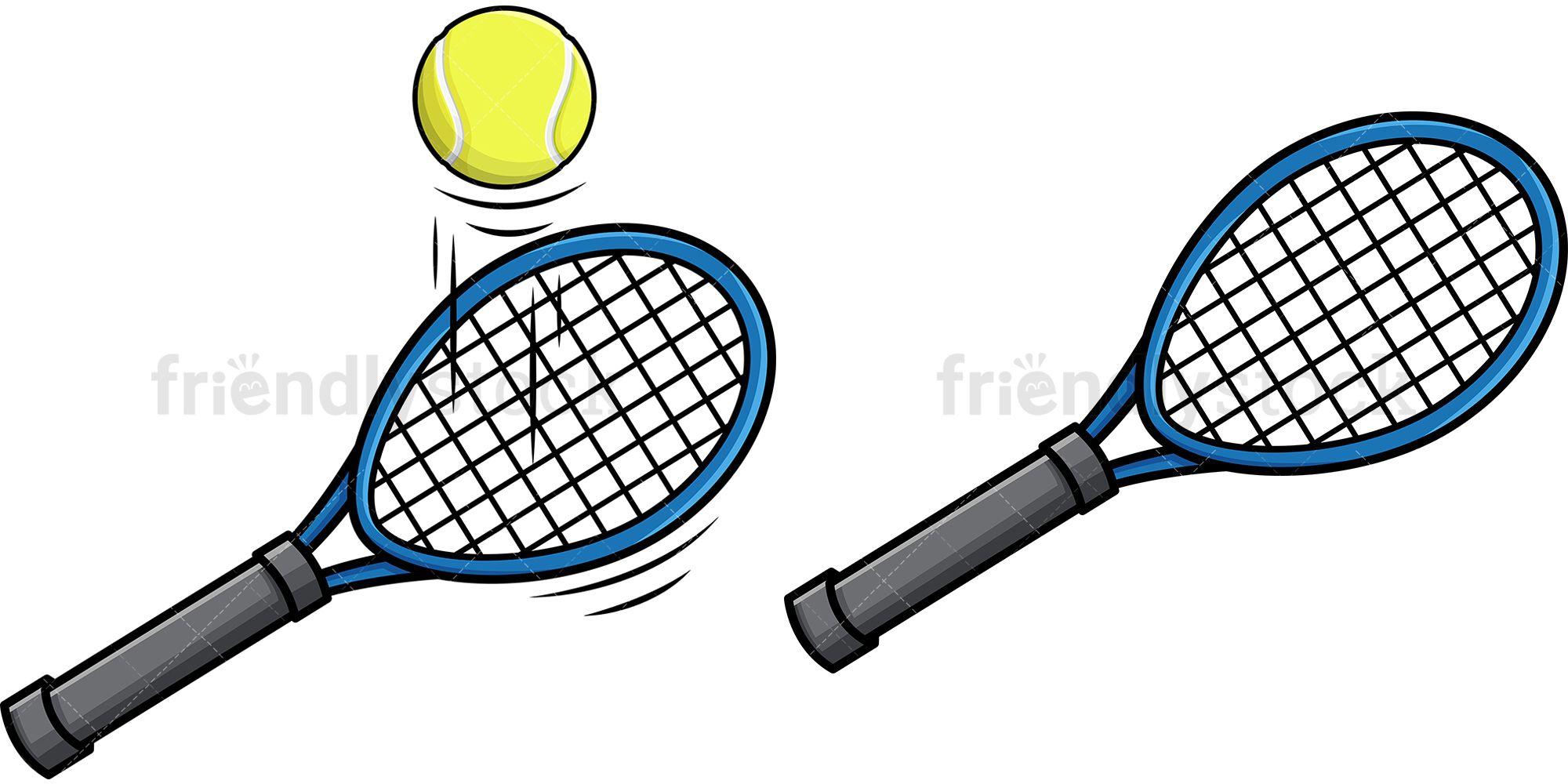 Tennis Racket Cartoon Vector Clipart Friendlystock Tennis Racket Rackets Tennis