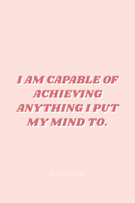 Positive affirmations quotes for encouraging women for success