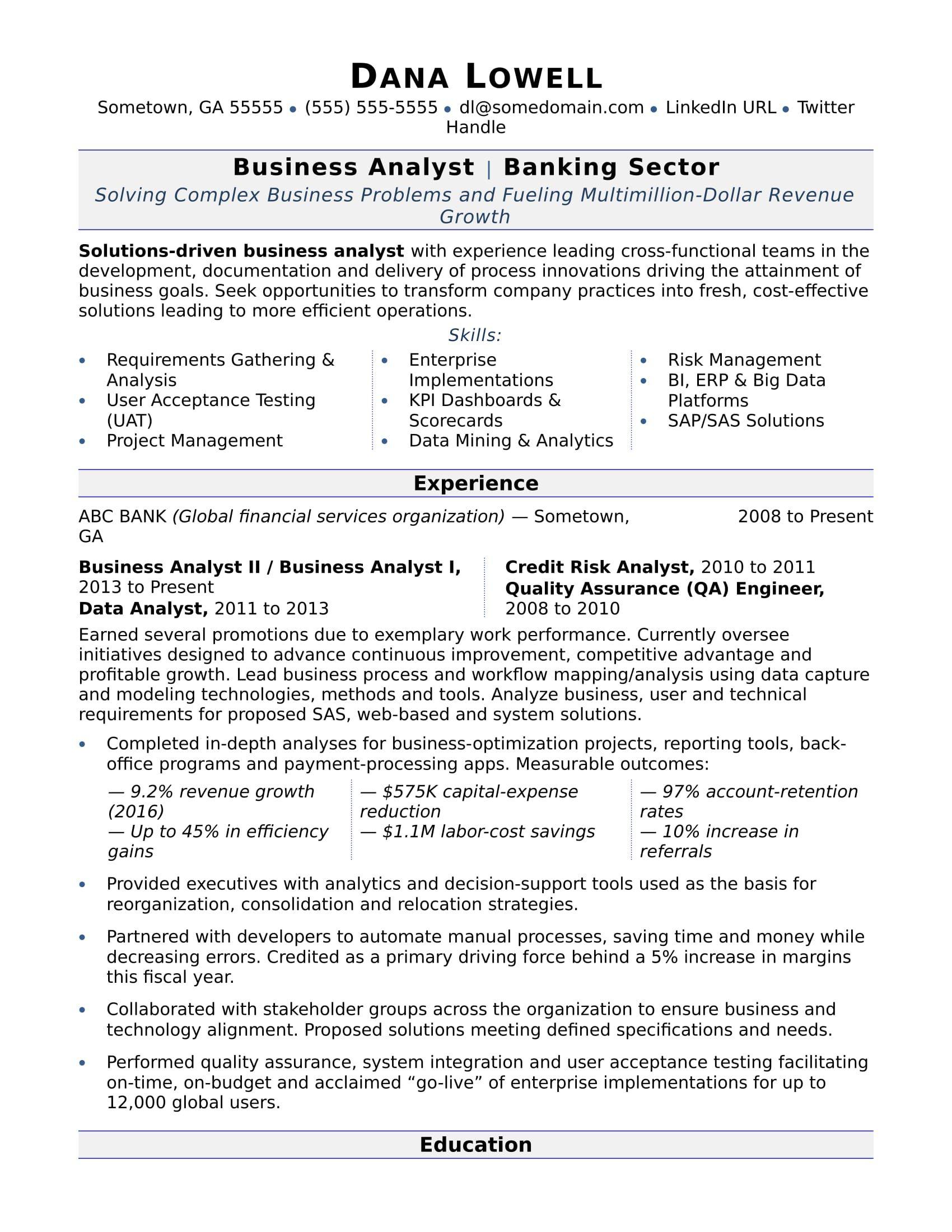 business analyst resume sample analyst, job b2b sales description for free wizard starbucks barista