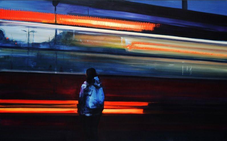 sid - nearlya: Paul Slota. Cityscapes, 2012, oil on...