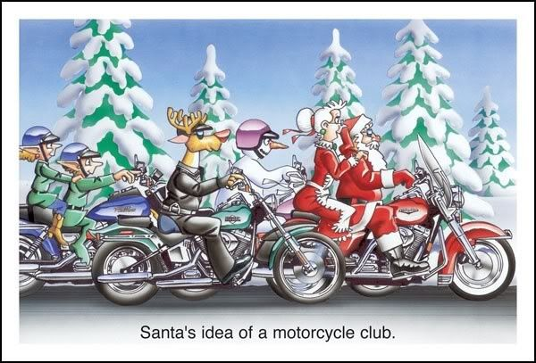 biker christmas | Santa's Idea Of A Motorcycle Club | Christmas ...