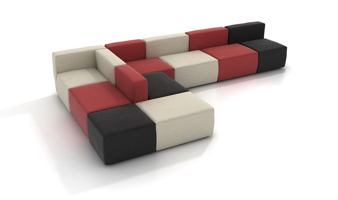 Handle Office Sofa Modular Office Sofa Compact Sofa