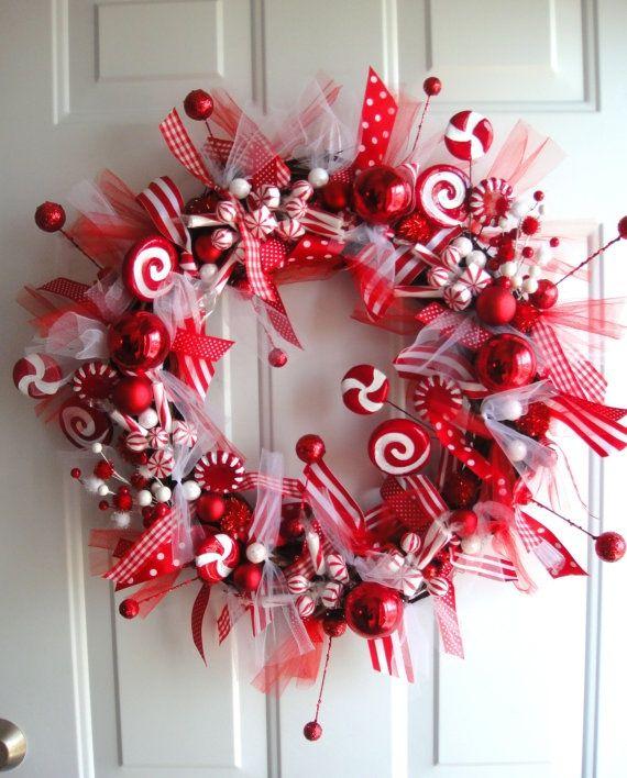 Como decorar tu casa con bastones de caramelo y dulces de menta peppermint candy - Decoracion con caramelo ...