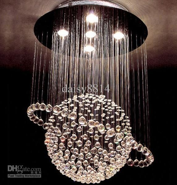 Wholesale Most Popular Style 5 Lights Dia500h800mm Crystal Ceiling