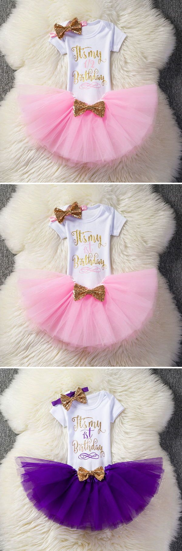 3cc488064 First 1st Birthday Outfits Baby Baptism Clothes Girl Party Wear Kids  Clothing 2 Years Tutu Infant Baby Girl Christening Suits #boysclothing  #girlsclothing