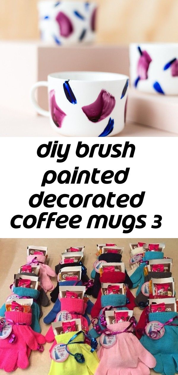 Diy brush painted decorated coffee mugs 3 Guys I have to tell you that it is cold in the studio at the moment I know its January  Im stating the obvious But its now so co...