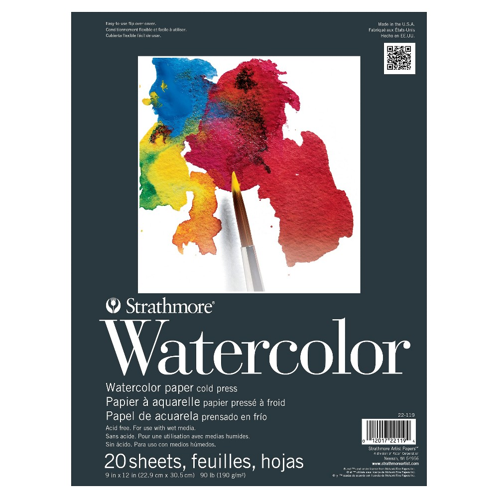 Strathmore 9x12 Watercolor Paper Pad 20ct White Watercolor