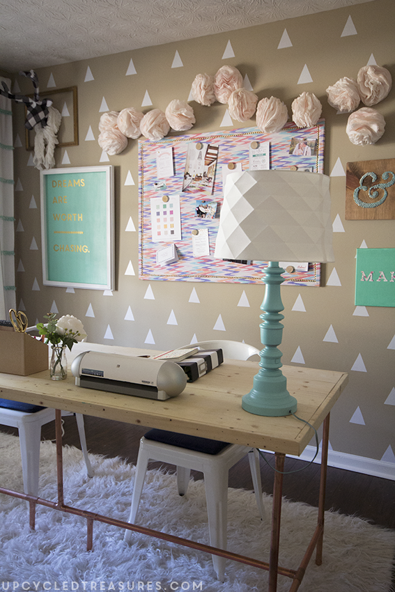 Creative Workspace Tour   A Craft Room And Home Office Filled With Upcycled  Finds And DIY