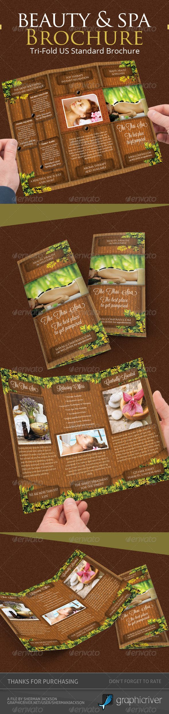 Beauty  Spa Trifold Brochure Psd Template  Psd Templates Print