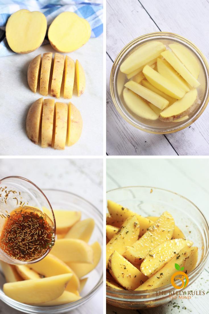 Crispy Air Fryer Potato Wedges Recipe How to cook