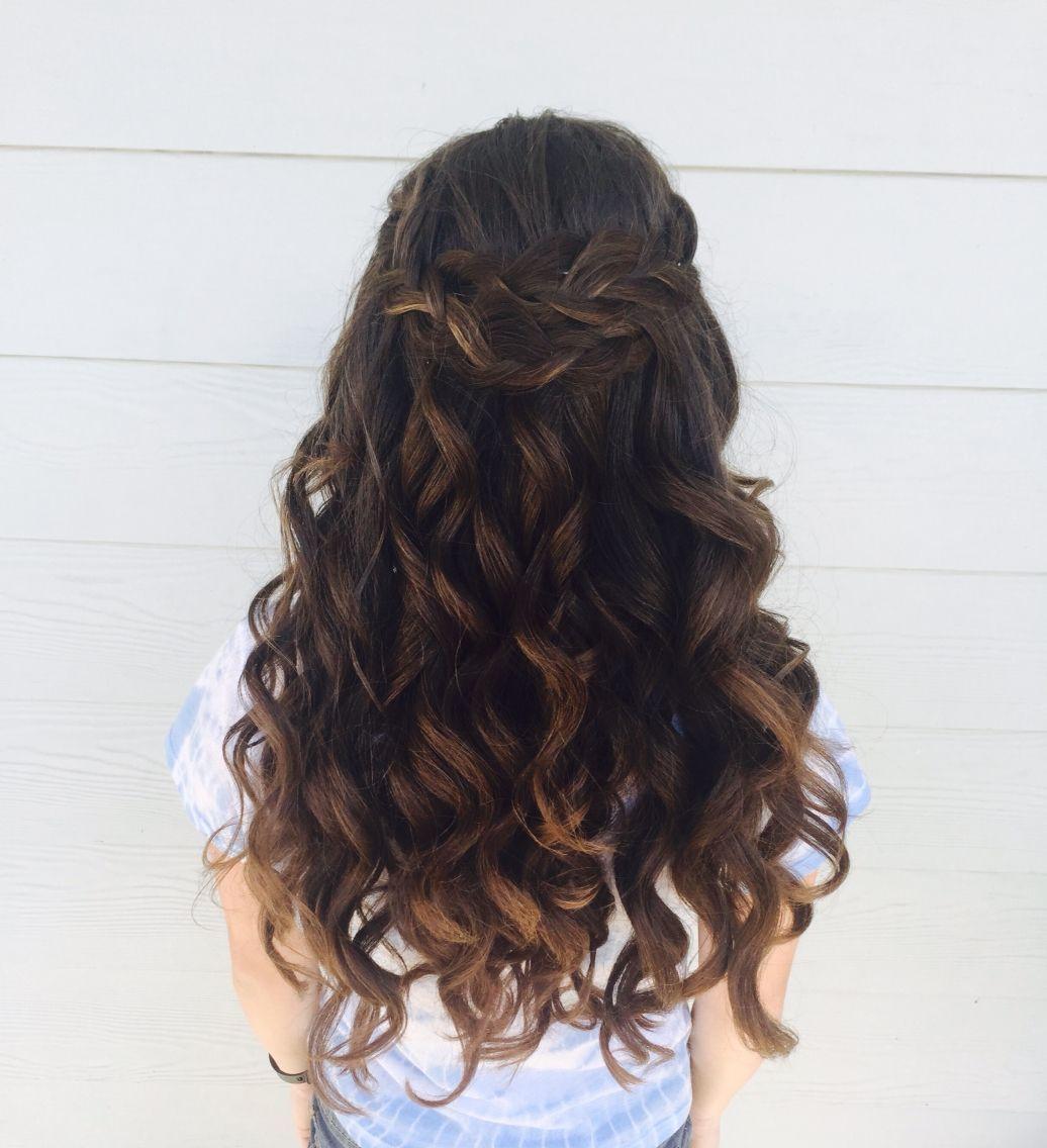 My Beautiful 8th Grade Graduation Hair Graduation Hairstyles Hairstyles For School Grad Hairstyles