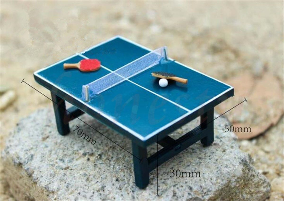 Mini Ping Pong Table Dollhouse Miniature Model Home Decor Scene Model Gift Set In Dolls Bears Houses Min Miniature Pool Table Ping Pong Dollhouse Miniatures