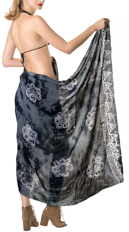 29c40ff54e LA LEELA Rayon Womens Sarong Pareo Suit Beach Towel Swimwear Tie Wrap Skirt# Womens,
