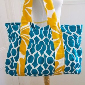New on CraftHabit.com: Free Beach Bag Pattern | sewing projects ...