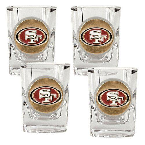 Team Colors NFL Seattle Seahawks Shot Glass Set4 Pack Shot Glass Set One Size