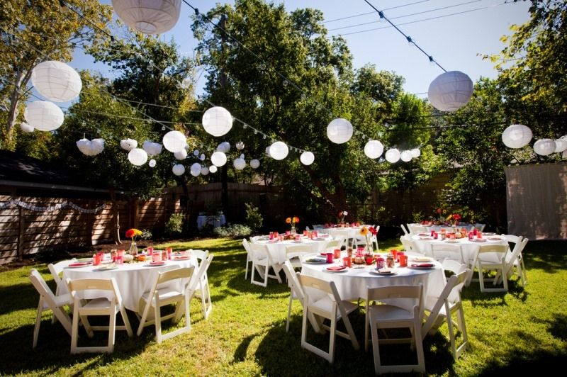 Delightful Small Wedding Dinner Party Ideas Part - 7: An Austin Tx Autumn Backyard Wedding From Offbeat Bride Backyard Wedding  Reception Ideas