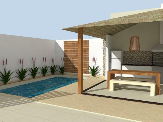 Jardim pequeno com piscina pequena pesquisa google for Piscinas pequenas