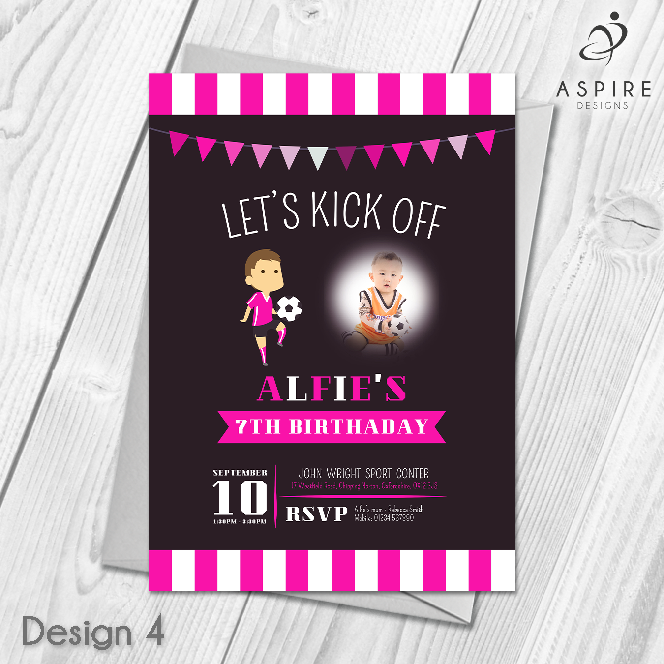 Personalised Football Party Invitations   Childrens Football Party ...