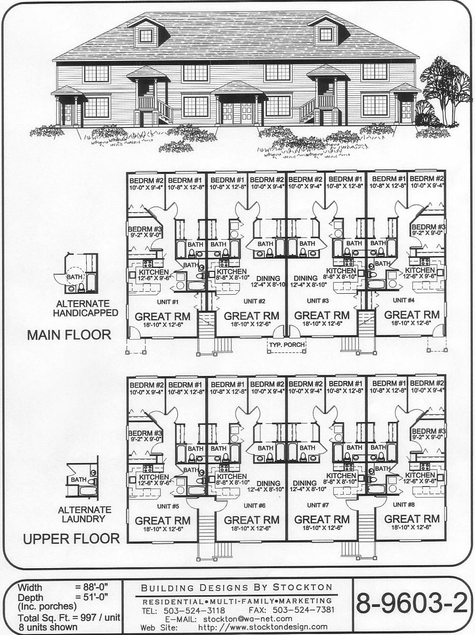 997 sq ft 3 bd unit | Apartment/House Plan Ideas in 2019 | Pinterest  Sq Ft Three Bedroom House Plan on