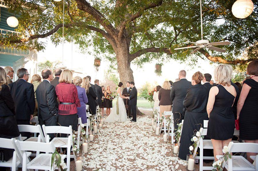 November 13th Wedding Ceremony Under Pecan Tree Barr Mansion