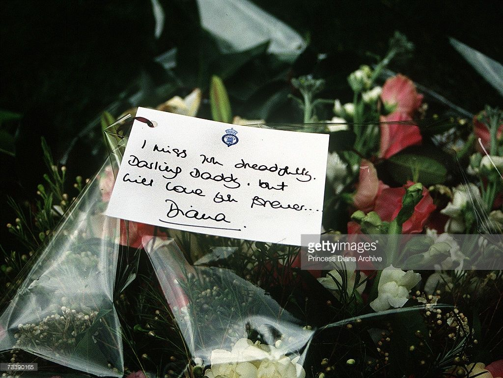April 01 1992 a bouquet of flowers and message card laid by the april 01 1992 a bouquet of flowers and message card laid by the princess izmirmasajfo Image collections