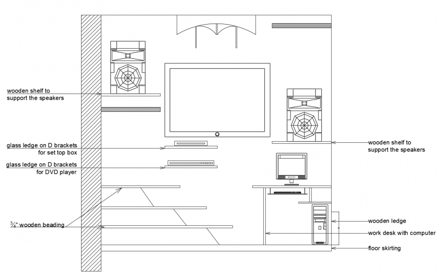 Showcase Furniture Units Detail Elevation 2d View Autocad File Drawing Room Furniture Room Furniture Drawing Furniture