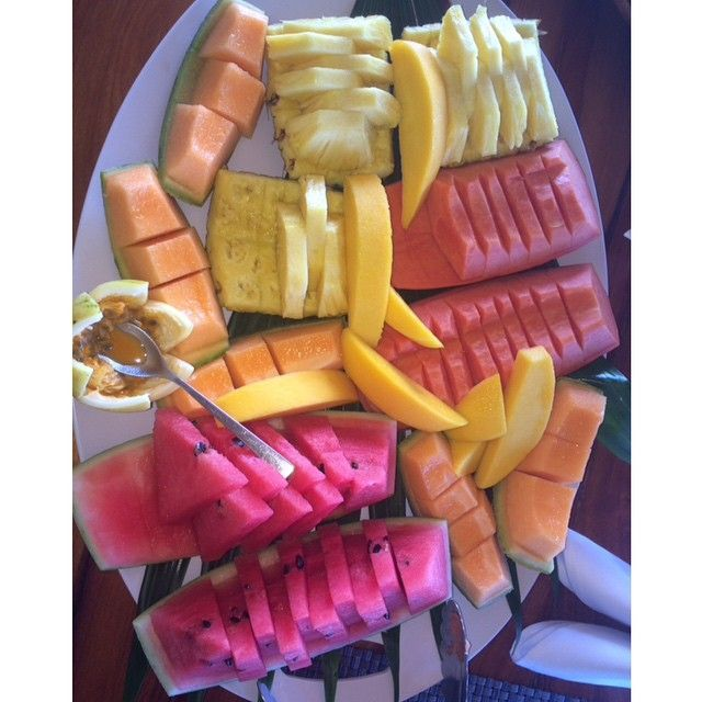 Fruits Salad Watermelon Pineapple Healthy Living