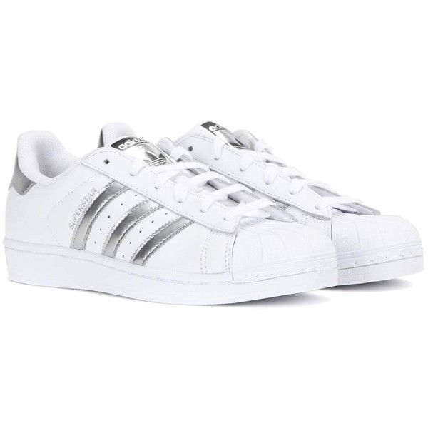 Adidas Originals Superstar Leather Sneakers 110 Liked On Polyvore Featuring Shoes Sneak Adidas Superstar Adidas Shoes Superstar Sneakers Adidas Superstar