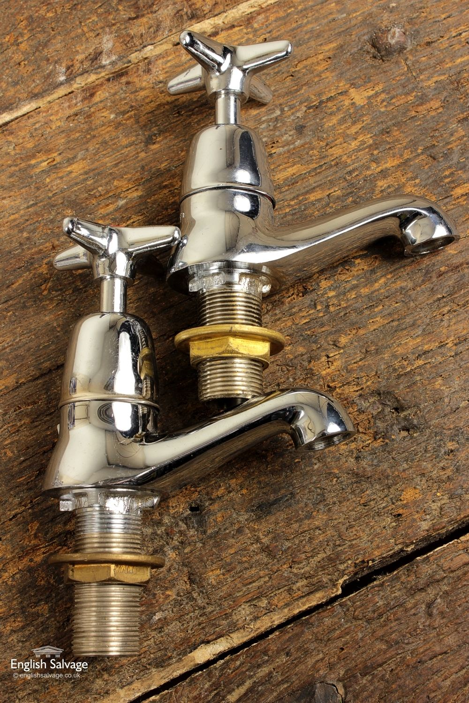 Unused Chrome 1960s Bath Taps | Salvaged Antique & Vintage Edwardian ...
