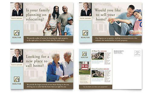 Real Estate Postcards Templates Designs Marketing Postcard