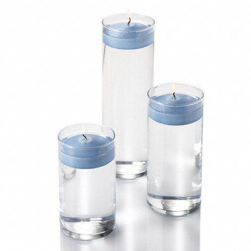 36 Eastland Cylinder Vases And 3 Light Blue Richland Floating