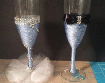 """Items similar to Wedding Glasses """"Luxury"""" on Etsy"""
